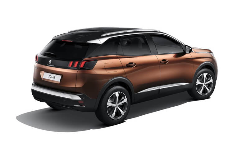 Peugeot 3008 SUV 1.5 BlueHDi 130PS Allure Premium 5Dr Manual [Start Stop] back view