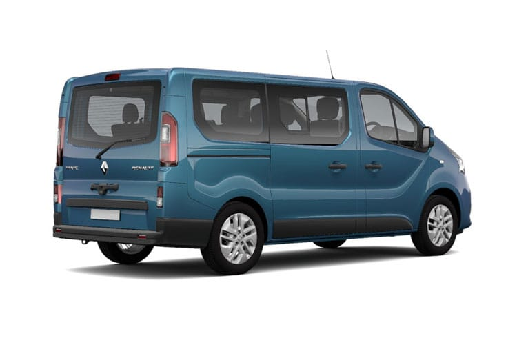 Renault Trafic 28 SWB MiniBus M1 2.0 dCi FWD 170PS SpaceClass Minibus EDC [Start Stop] [8Seat] back view